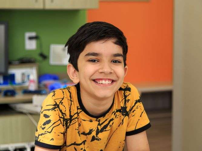 Boy male patient ismiling - Blume Pediatric Dentistry San Antonio, TX