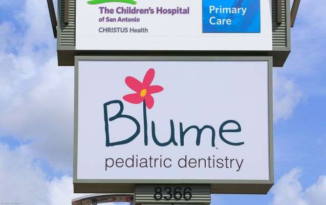 Frontage sign - Blume Pediatric Dentistry San Antonio, TX